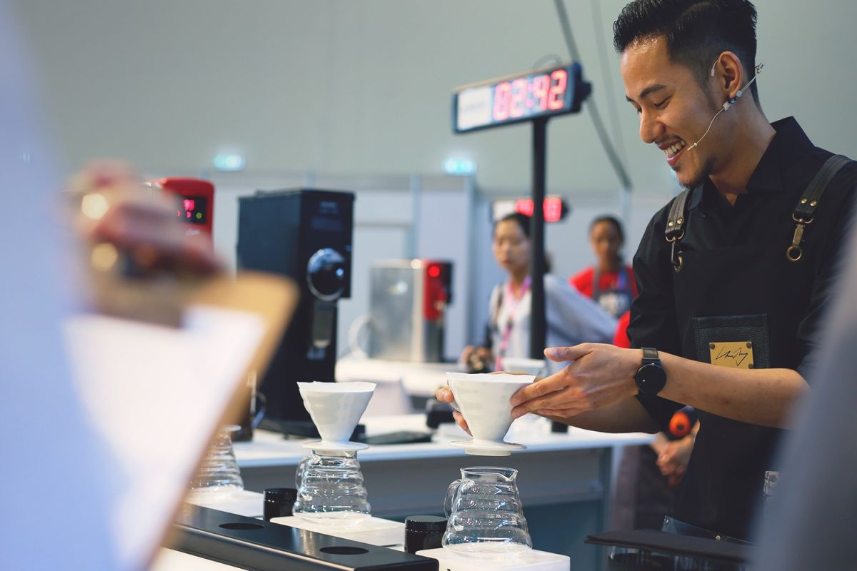 Budapest Brewers Cup Champion Chad Wang (C) Sprudge