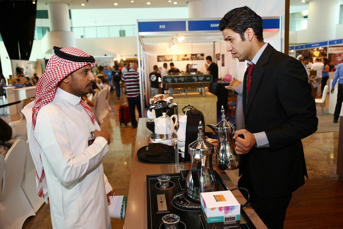 A stand at the Dubai International Tea and Coffee Festival