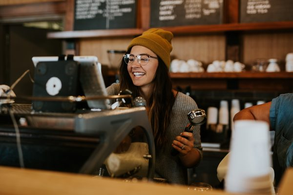 Happy barista